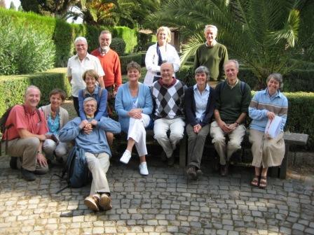 Groupe aux catacombes de Saint-Callixte, octobre 2008