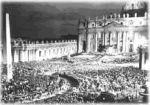 La procession aux flambeaux du 11 octobre 1962 sur la place Saint-Pierre