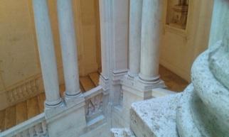 Détail d'un escalier berninien, palais Barberini