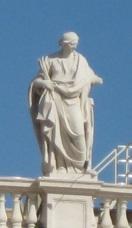 Sainte Cécile et les palmes de son martyre, colonnade du Bernin, Vatican