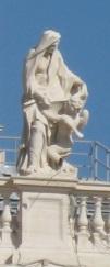 Sainte Françoise Romaine et son ange gardien, colonnade du Bernin, Vatican
