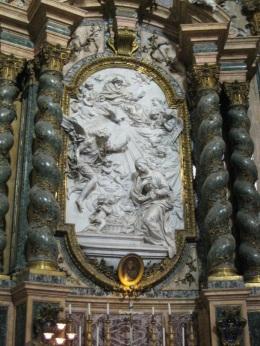 Annonciation, autel de saint Jean Berchmans dans l'église Saint-Ignace