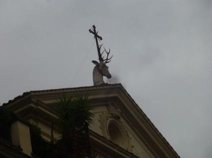 Fronton de l'église Saint-Eustache