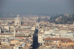 Dans l'axe du Corso, vers la piazza del Popolo et la Porte Flaminia