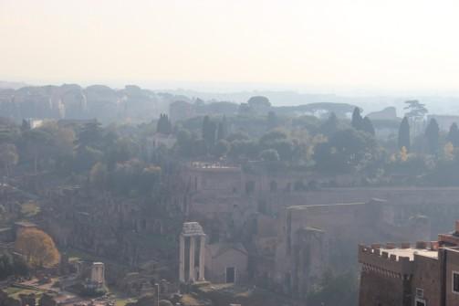 Les 3 colonnes caractéristiques du temple de Castor et Pollux