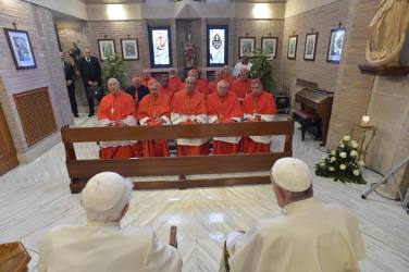 2018-06-28 - Rencontre de 2 papes et 14 nouveaux cardinaux