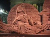 Crèche en sable - Vatican 2018