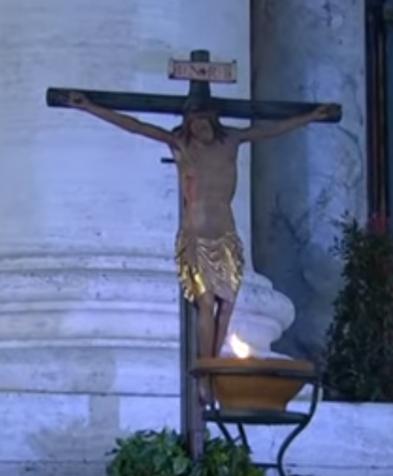 Crucifix miraculeux de l'église Saint-Marcel - Rome - Capture d'écran de © Vatican Media