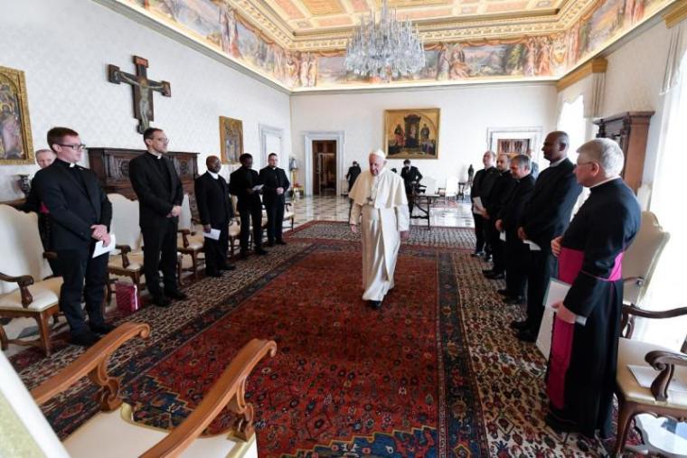 2021-03-18 - Visite du Collège belge au pape François 2 - VaticanNews